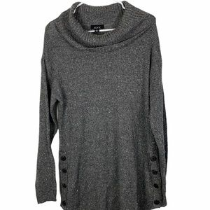 ALYX cowl neck long sweater with metallic threads